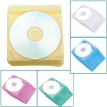 ETC-High Quality New 100 pcs/lot CD DVD Double Sided Cover Storage Case Plastic Bag Sleeve Envelope Hold Radom