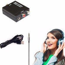 3.5MM Optical Coaxial Toslink Digital to Analog Audio Converter Adapter Digital RCA L/R with usb power cable(China)