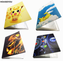 Anime Cards Album Book Top Loaded List 112 EX Cards Holder Pikachu Album Collection Cards Invitations Toys for Children XMS Gift(China)