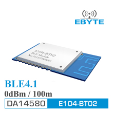CDEBYTE low energy 2.4GHz DA14580 0dBm E104-BT02 BLE 4.1 Wireless Bluetooth BLE Transparent Transmission Module