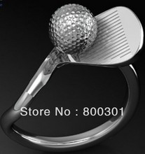Golf silver ring/ European ring/ Christmas gift/ sterling silver golf ring/ finger ring