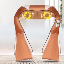 Electric Massage Cape 16 Massage Heads Infrared Therapy Neck Back Waist Pain Relief Health Care Household Massager Device(China)