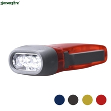 DC 5 Shining Hot Selling Drop Shipping Wind up Hand Pressing Crank Emergency Camping LED Flashlight Torch(China)