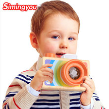 Buy Simingyou Children Wooden Toys Camera Kaleidoscope Magic Education Baby Kids Montessori Learning Toy D10-A-245 Drop for $5.09 in AliExpress store