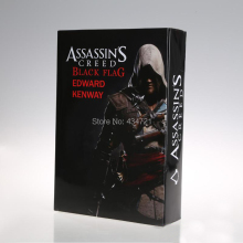 "New Classic Xbox360 PSP PC Game Assassin's Creed Black Flag Edward Kenway Huge 12"" Action Figure Toys New Original Box"