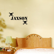 Personalized Custom Name wall art vinyl wall quote home decals wall decor bedroom wallstickers kids room decoration(China)