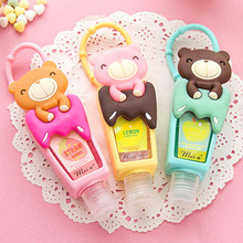 Y123 Lovely Teddy Bear 1pcs hung Travel portable Mini Plastic Bottle hand sanitizer/Makeup fluid bottle Bathroom products
