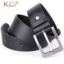 Stylish 2017 high quality Mens 120 cm length Leather Single Prong Belt Business Casual Metal Buckle Accessory