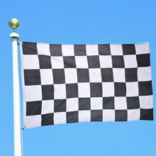 New 90*150cm Black White Nascar Flag Racing Checkered Motorsport Banner