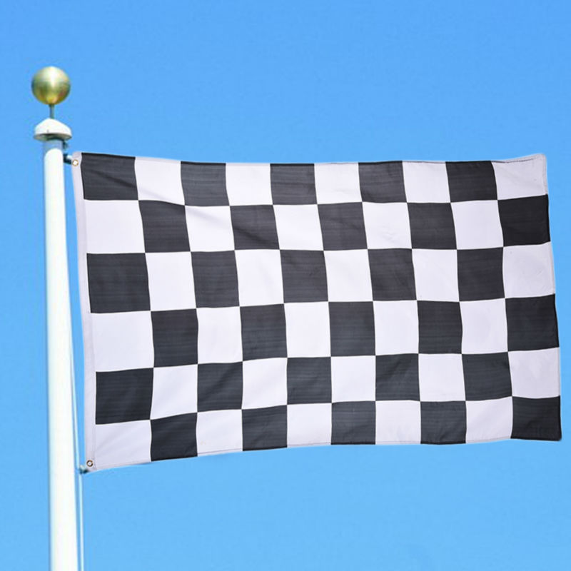 New 90*150cm Black White Nascar Flag Racing Checkered Motorsport Banner(China (Mainland))