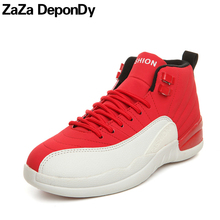2018 Cheap Men Basketball Shoes Air Damping Lovers Basketball Sport Shoes Men High Top Sneakers Women Mens Outdoor Jordan Shoes(China)