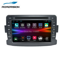 Quad Core Pure Android 4.4.4 CGPS Navigation Radio For Dacia Renault Duster Logan Sandero Car DVD Central Cassette Player