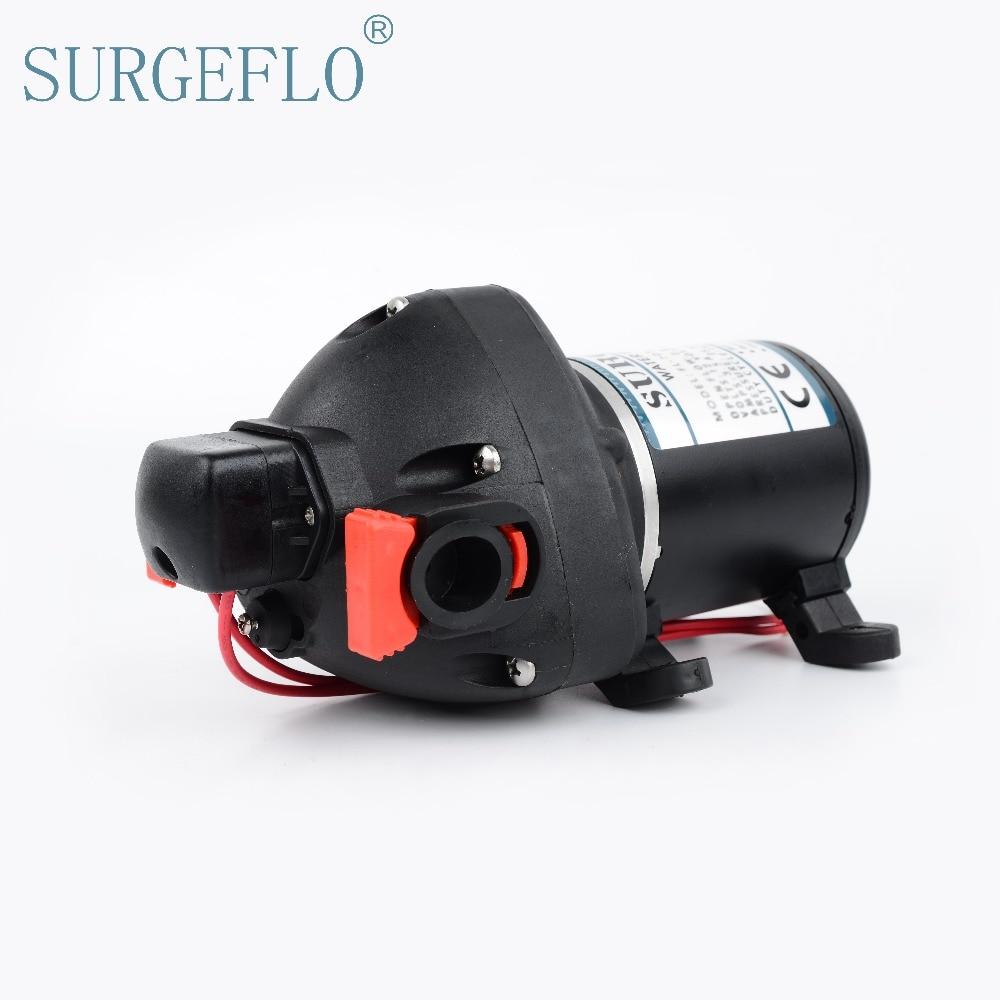 SURGEFLO 12V 24V DC High Pressure Mini Electric Water Pump  Automatic Diaphragm Pump Car Yachts Use FL-703 FL-706<br><br>Aliexpress