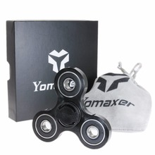 Yomaxer Fidget Hand Spinner Nylon PA Material 608 Bearing 1.5 inches For Autism and ADHD ADD EDC Toy Black(China)