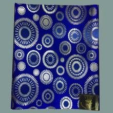 Blue&silver African sego headtie, 2pcs/pack nigeria headties sego gele head tie 2017 african gele fabric 5 packs/lot for sale