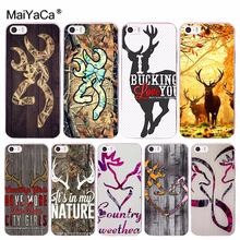 MaiYaCa Browning Hunting Deer Novelty Fundas Phone Case Cover Apple iPhone 8 7 6 6S Plus X 5 5S SE 5C 4 4S Cover