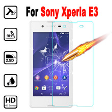 Xperia E 3 Premium Screen Protector Phone Protective Film For SONY Xperia E3 Dual D2203 D2206 Tempered Glass with Clean Tool