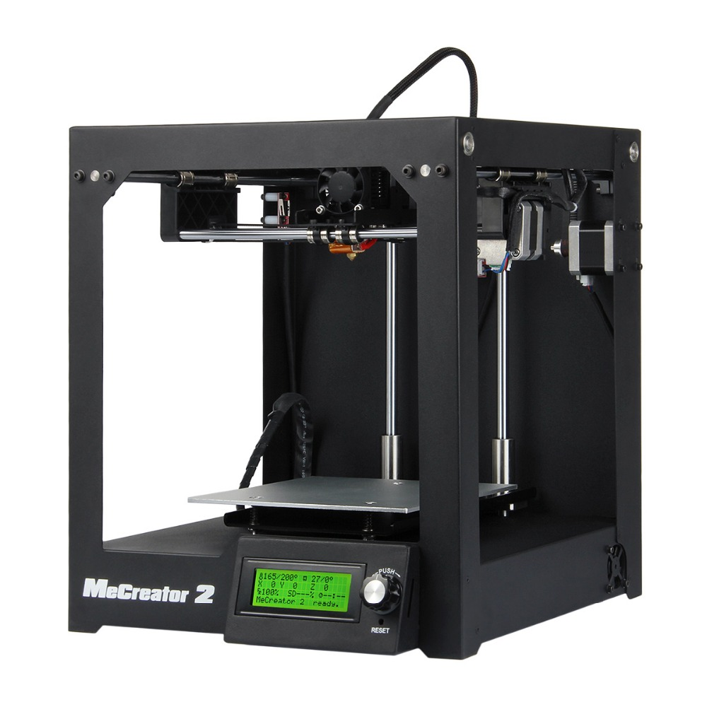 Full Assembled 3D Printer Me Creator 2 Upgraded MK8 Extruder Print 160x160x160mm Wholesale 3D Printer(China (Mainland))