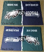 Philadelphia Eagles Seattle Seahawks House Divided Flag 3ft x 5ft Polyester NFL Banner Size No.4 144*96cm QingQing Flag(China)