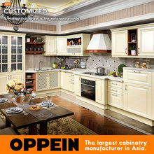 Professional Modern PVC Finished Cabinet Design Kitchen Ideas OP15-052(China)