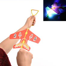 10 Pcs Helicopter Flying Toy Amazing LED Light Arrow Plane Party Fun Gift Led Light Kids Flying Toys