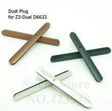 New SIM Card Port Slot Cover+Usb Cover Charger Port Dust Plug Cover for Sony Xperia Z3 Dual D6633,1set=2pcs