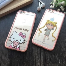 Cute Cartton Lovely Hello Kitty Case Cover for apple iphone 5 5S SE 6 6S Plus Captain Shield Armor Boy Girl Girly Phone Capa