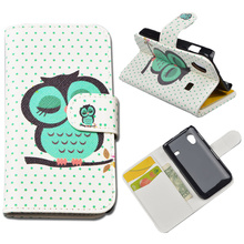 Fashion Printing Wallet PU Leather Case For Samsung Galaxy Ace S5830 GT-S5830 GT S5830I gt-s5830i Cover Flip with Card Holder