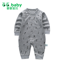 Infant New Born Baby Boy Rompers Baby Girl Rompers Clothes White Overalls Newborns Clothing Unisex Solid Jumpsuit Long Sleeve(China)