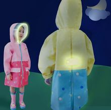 New lemon Transparent Wide Brim Children Raincoat Bag Reflective Thickening Kids Rain Coat Children's Raincoat Rainwear Cartoon(China)