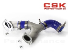 ALUMINUM TOP MOUNT INTERCOOLER Y-PIPE kit FIT FOR 02-07 IMPREZA WRX/STI GD/GG BLUE