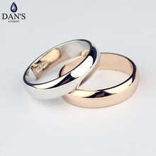 Dan's Element Brand Real alloy round wedding Rings for Women healthy Anti Allergies New Sale Hot Fi-RG90696(China)