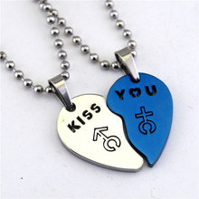 Love Form Lovers Necklace A Pair Hollow Out Men And Women Symbol Titanium Pendants Leisure Time Accessories Product