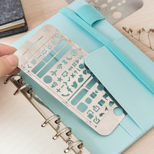 Creative Iphone 6 Plus WEB UI Cutout Drawing Stencils Metal DIY Ruler Bookmark for Notebook Planner Sketch Stainless Steel