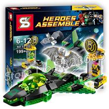199PCS Batman Bela SY352 DC Comics Green Lantern vs. Sinestro building Space Gift Educational Toys Compatible With Lego