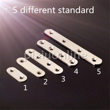 DS439b 5Sizes Choose Stainless Steel Multi-holes Straight Corner Bracket DIY Furniture Making Chair Desk SALE at a Loss