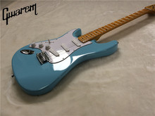 Electric guitar/Gwarem new st left hand guitar/sky blue color/guitar in china(China)