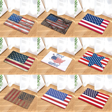Homing Welcome Home Hallway Door Mats Vintage American Flag Stars Pattern Rugs Light Soft Kitchen Living Room Bedroom Foot Pads(China)