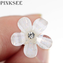 PINKSEE 20PCS Crystal Flower Rhinestone Hair Pins  Tiara Bridal Wedding Hair Accessories Hair Ornaments Wholesale