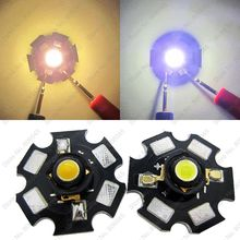 50pcs/lot 3W High Power LED Emitter Black Bracket Optional Cool White 6500K Warm White 3000K Color with 20mm Star PCB
