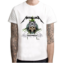 metallica t shirt men 2017 New Funny Design music skull men's T-shirt Hipster Printed Short Sleeve Tops tees O-neck