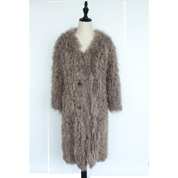 women natural lamb sheep fur coat (1)