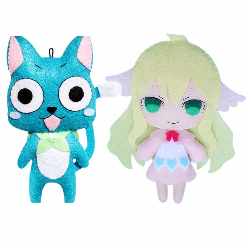 Fairy Tail Happy Mavis Vermilion Plush Doll DIY Soft Stuffed Toys Keychain Phone Strap Christmas Gift<br><br>Aliexpress