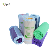Zipsoft Beach towel Wraps Microfiber 2017 Brand Mesh Bag Fabric Sports Quick Dry Bath Travel Hike Camp Gym Pool Yoga Mat Blanket(China)