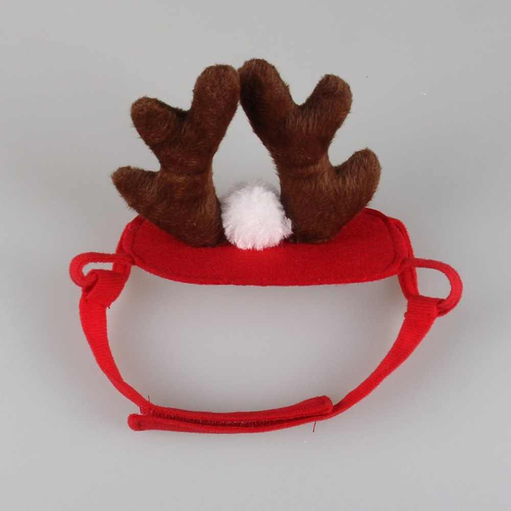 c35d4340551 1pc Cute Pet Supplies Antlers Deer Hat for Teddy Puppy Dog Christmas Costume  Cap Santa Decals