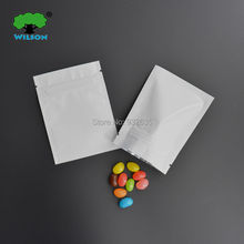 3''x4'' (7.5x10 cm) Top fill white plastic reclosable seal  zip lock foil bag high Free shipping 100 - 1000 pcs