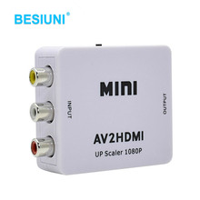 Hot Sale White RCA AV HDMI CVBS to HDMI Adapter HD 720P 1080P AV to HDMI Mini av2hdmi Video Converter(China)