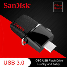 100% Genuine SanDisk  Dual USB 3.0 SDDD2 Drive OTG Flash Drive PenDrives  Pen Drives 130M/s 16GB 32GB 64GB 128GB