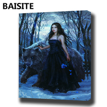 Buy BAISITE DIY Framed Oil Painting Numbers Flowers Pictures Canvas Painting Living Room Wall Art Home Decor E958 for $9.78 in AliExpress store
