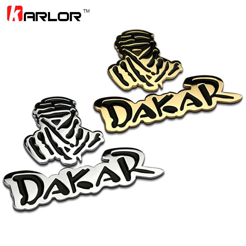 Metal Chrome Dakar Rally Logo Car Auto Trunk Emblem Badges Decal Sticker SUV 4X4